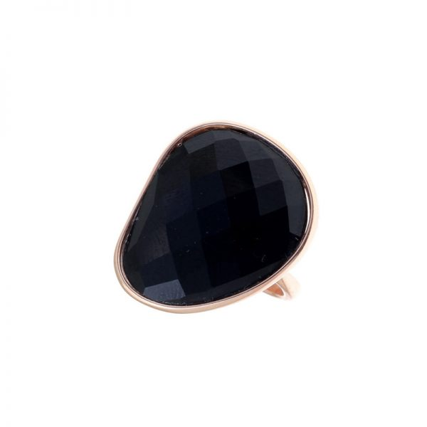 Δαχτυλίδι Gregio Ασημένιο με Επιχρύσωμα και Ημιπολύτιμο Λίθο – 32295