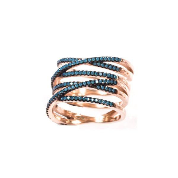 Δαχτυλίδι Από Ροζ Επιχρυσωμένο Ασήμι Και Τιρκουάζ Πέτρες Ζιργκον