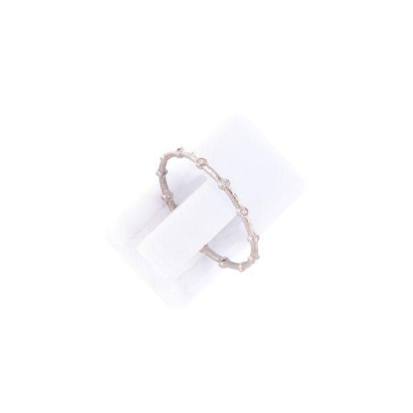 Δαχτυλίδι Ασημένιο Επιπλατινωμένο με Ζιργκόν – TR68