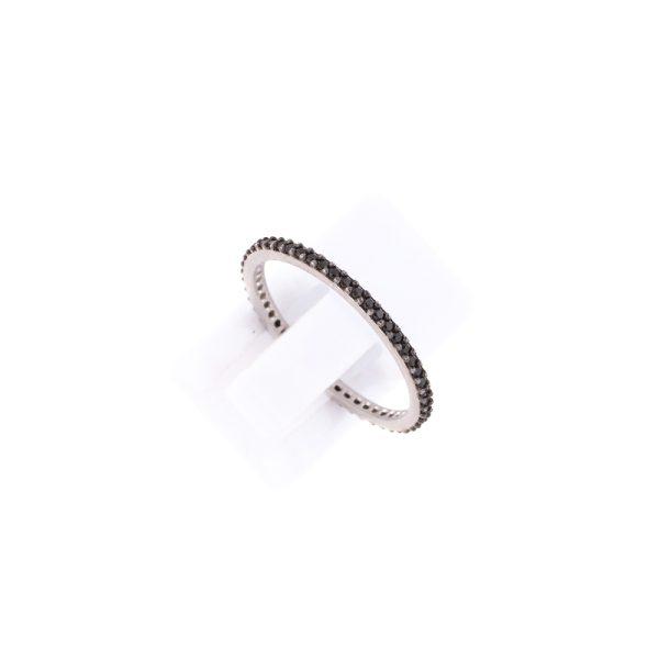 Δαχτυλίδι Ασημένιο Επιπλατινωμένο με Ζιργκόν – TRB69