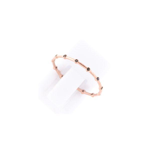 Δαχτυλίδι Ασημένιο με Επιχρύσωμα και Ζιργκόν – TRPB68