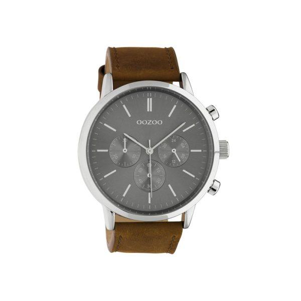 Ρολόι Oozoo Timepieces Brown Leather Strap - C10541