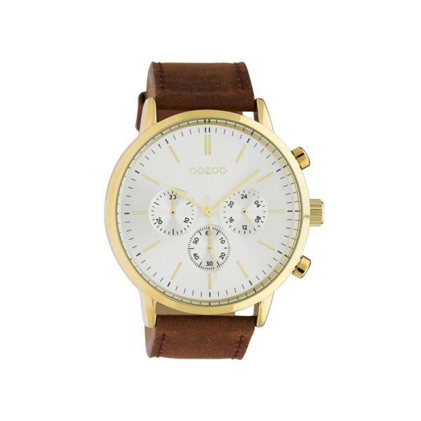 Ρολόι Oozoo Timepieces Brown Leather Strap - C10542