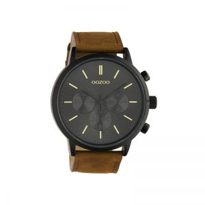 Ρολόι Oozoo Timepieces Brown Leather Strap – C10543