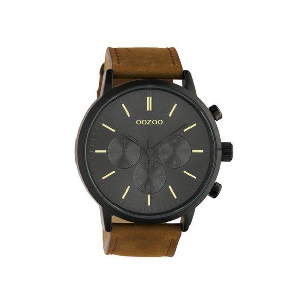 Ρολόι Oozoo Timepieces Brown Leather Strap - C10543