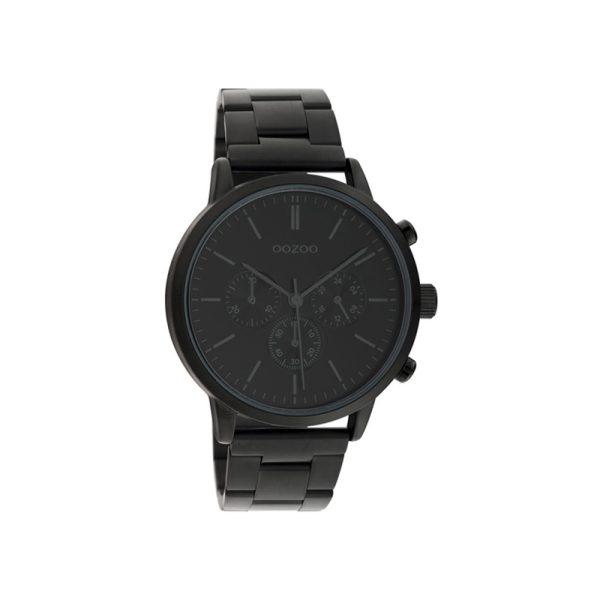 Ρολόι Oozoo Timepieces Black Metallic Bracelet - C10549