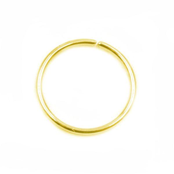 Σκουλαρίκι Μύτης Ασημένιο Επιχρυσωμένο Κρίκος – MT253