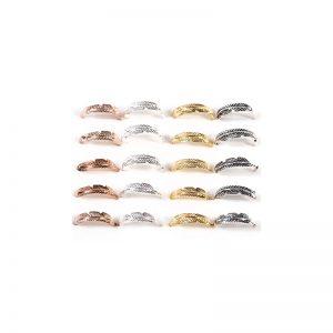 Σκουλαρίκι Μύτης Ασημένιος Κρίκος Φτερό 10mm