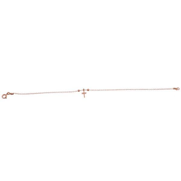 Βραχιόλι Ασημένιο με Επιχρύσωμα και Σχέδιο - PL00155