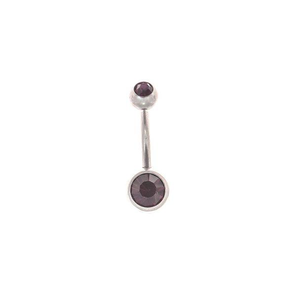 Σκουλαρίκι Αφαλού από Ατσάλι με Στρας – STB3