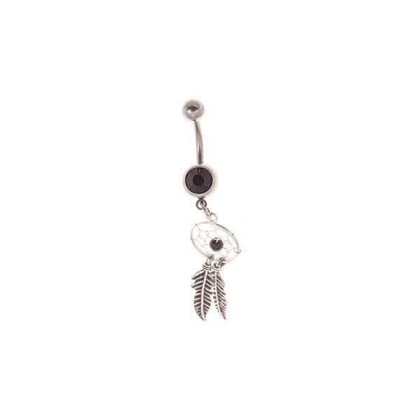 Σκουλαρίκι Αφαλού από Ατσάλι με Στρας – STB6