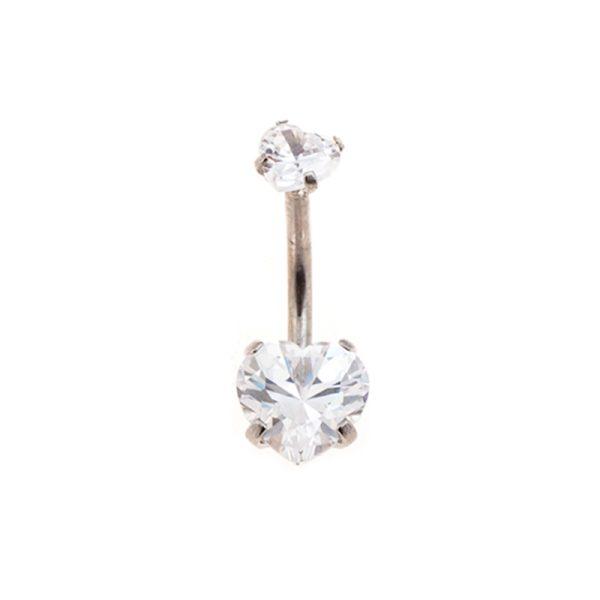 Σκουλαρίκι Αφαλού από Ατσάλι με Ζιργκόν – NAX90