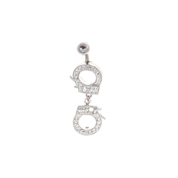 Σκουλαρίκι Αφαλού από Ατσάλι με Στρας – STB5
