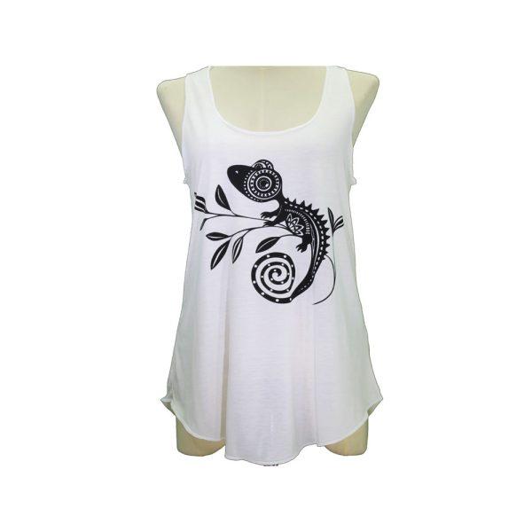 Μπλούζα Αμάνικη Λευκή με Σχέδιο – AZ23BK
