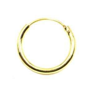 Σκουλαρίκι Αυτιού/Μύτης Ασημένιο Επιχρυσωμένο Κρίκος - KA393