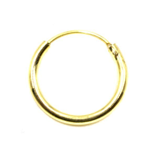 Σκουλαρίκι Αυτιού Ασημένιο Επιχρυσωμένο Κρίκος – KA393