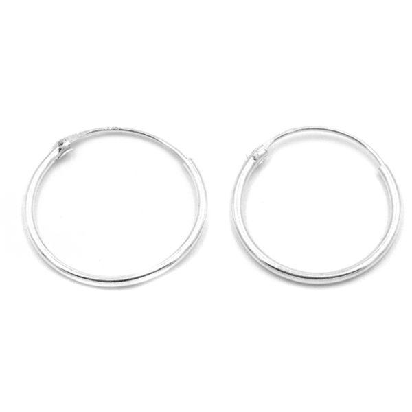 Σκουλαρίκια Αυτιού Ασημένια Κρίκοι - KAS11