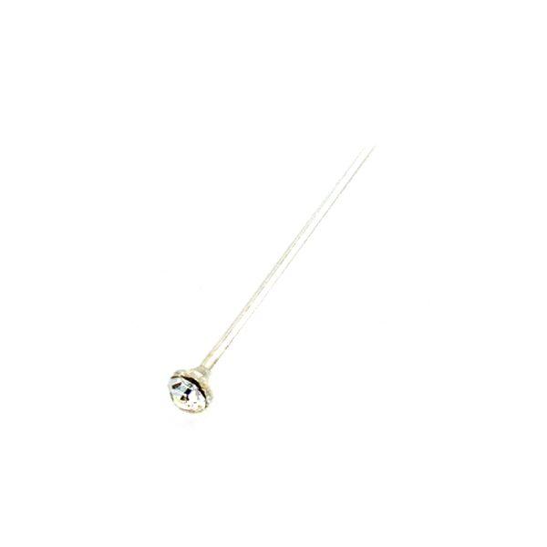 Σκουλαρίκι Μύτης Ασημένιο με Στρας – MT1