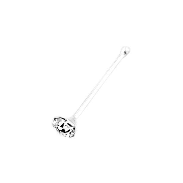 Σκουλαρίκι Μύτης Ασημένιο με Ζιργκόν- MT296