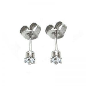 Σκουλαρίκια Αυτιού Ασημένια Επιπλατινωμένα με Ζιργκόν - D338441