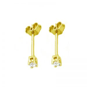 Σκουλαρίκια Αυτιού Ασημένια Επιχρυσωμένα με Ζιργκόν - D338735G