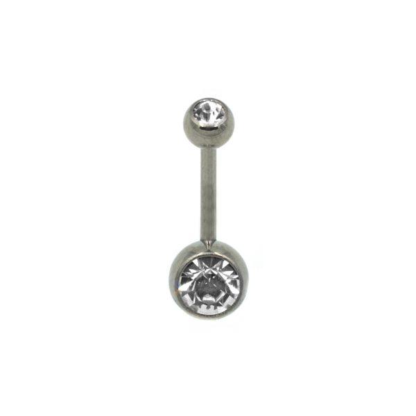 Σκουλαρίκι Αφαλού από Τιτάνιο με Στρας - NOC3