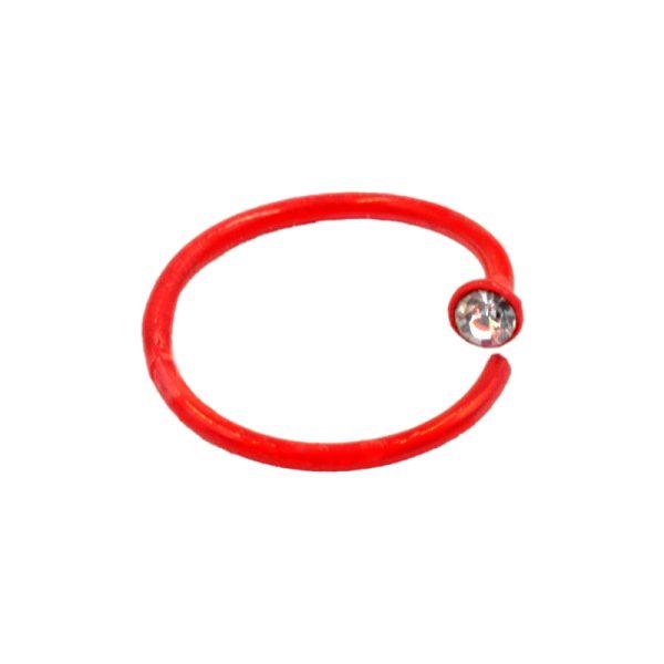Σκουλαρίκι Μύτης Ασημένιο Κρίκος με Στρας – MT359R
