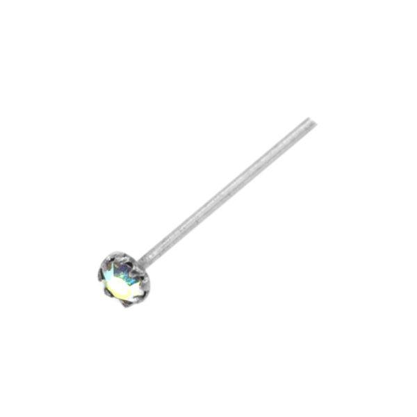 Σκουλαρίκι Μύτης Ασημένιο με Στρας – L34022WY