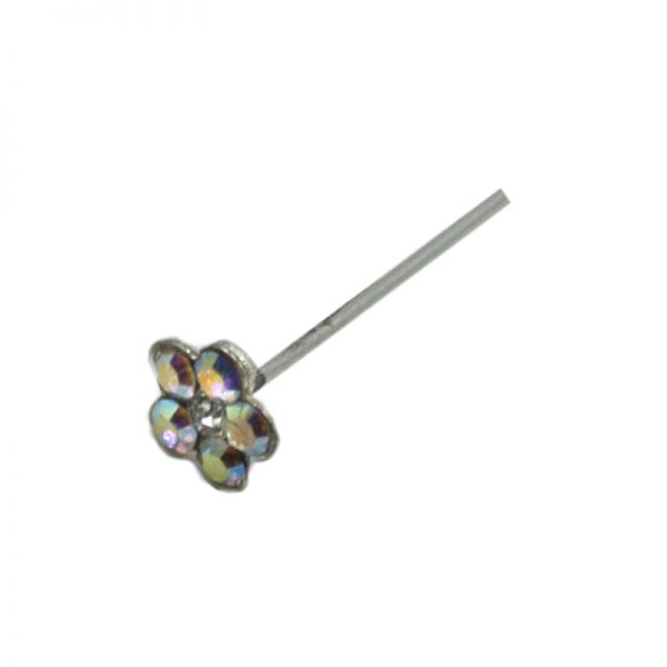 Σκουλαρίκι Μύτης Ασημένιο με Στρας- L34071WY