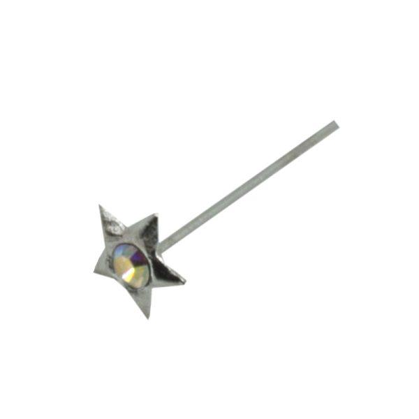 Σκουλαρίκι Μύτης Ασημένιο με Στρας- L34086WY