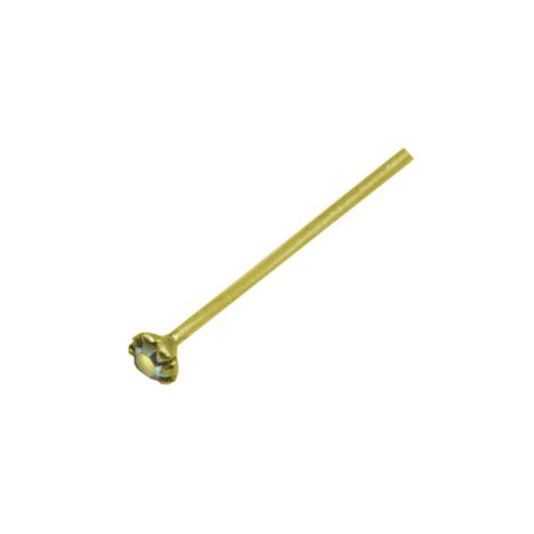 Σκουλαρίκι Μύτης Ασημένιο Επιχρυσωμένο με Στρας – L34721WY