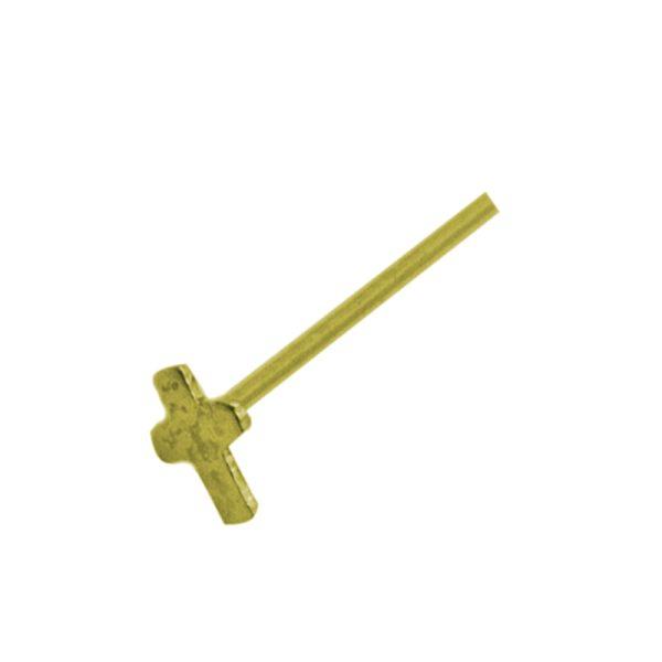 Σκουλαρίκι Μύτης Ασημένιο Επιχρυσωμένο με Σχέδιο – L34786W