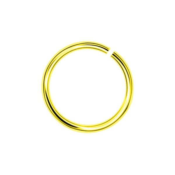 Σκουλαρίκι Μύτης από Τιτάνιο Επιχρυσωμένο Κρίκος - TMT7