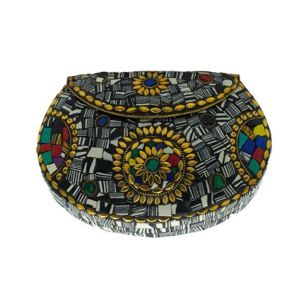 Τσάντα Μπρούτζινη με Ημιπολύτιμες Πέτρες – WB33