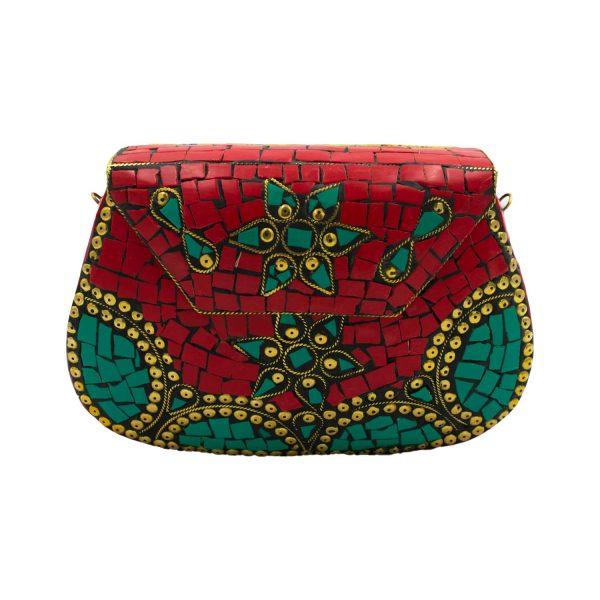 Τσάντα Μπρούτζινη με Ημιπολύτιμες Πέτρες – WB38