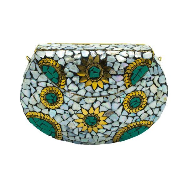 Τσάντα Μπρούτζινη με Ημιπολύτιμες Πέτρες – WB34