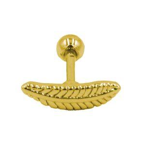 Σκουλαρίκι Αυτιού από Ατσάλι Επιχρυσωμένο με Σχέδιο - AFK019G