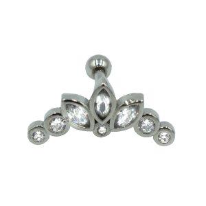 Σκουλαρίκι Αυτιού από Ατσάλι με Ζιργκόν – AFK020