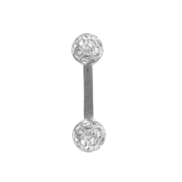 Σκουλαρίκι Αφαλού από Ατσάλι με Swarovski – FL442W
