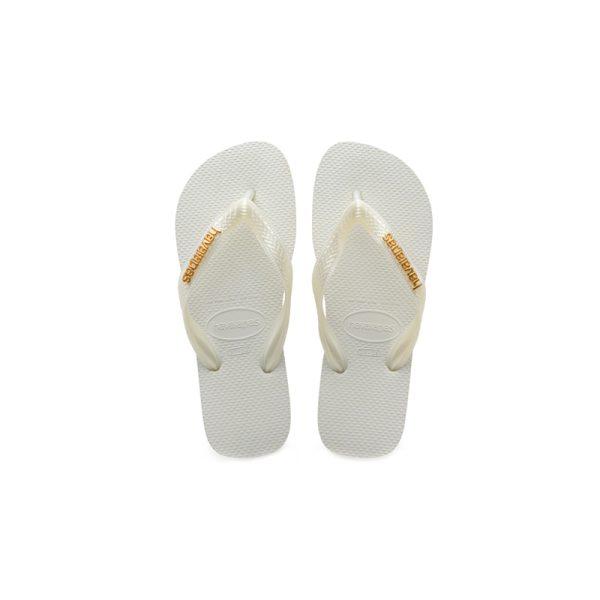 Σαγιονάρες Ηavaianas Logo Metallic White – 4127244-0001