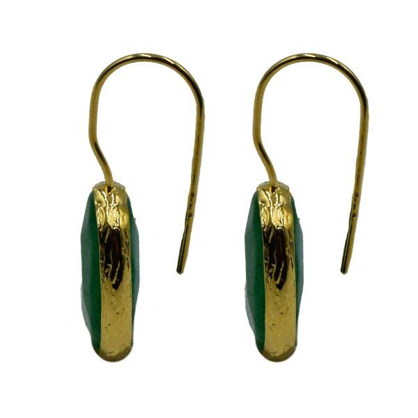 Σκουλαρίκια Αυτιού Μπρούτζινα Επιχρυσωμένα με Ημιπολύτιμους Λίθους – FSTN9