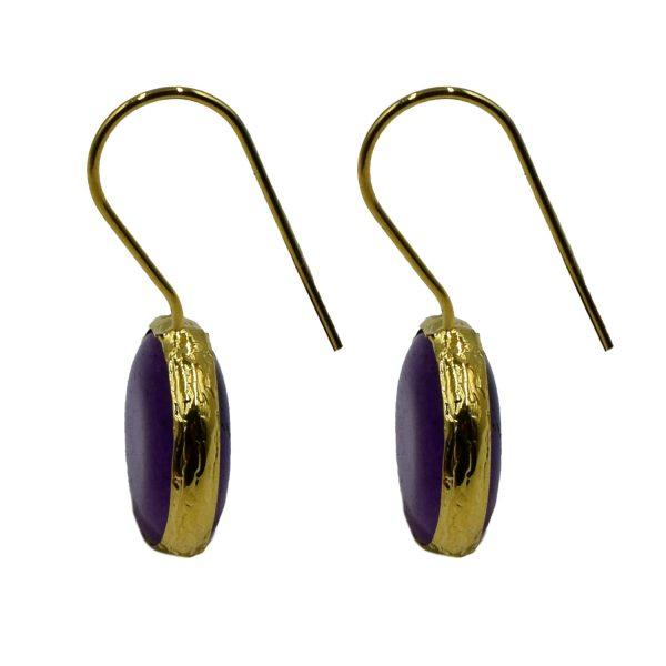 Σκουλαρίκια Αυτιού Μπρούτζινα Επιχρυσωμένα με Ημιπολύτιμους Λίθους – FSTN11