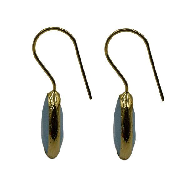 Σκουλαρίκια Αυτιού Μπρούτζινα Επιχρυσωμένα με Ημιπολύτιμους Λίθους – FSTN