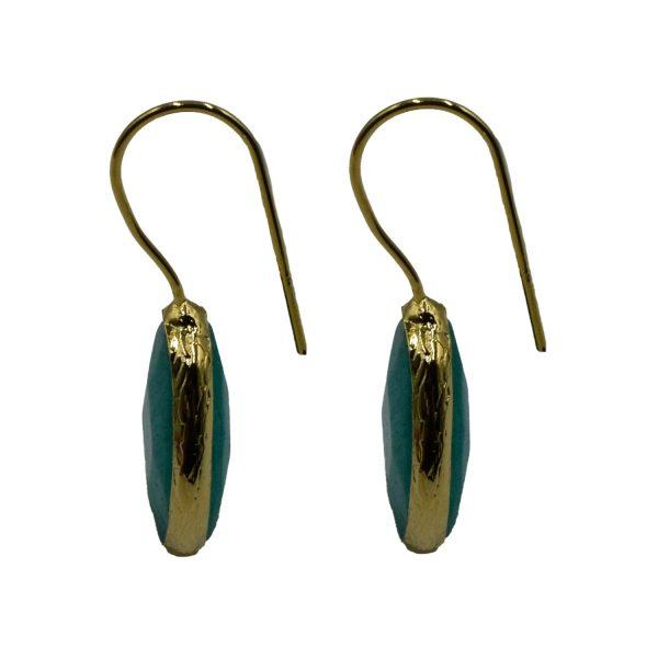 Σκουλαρίκια Αυτιού Μπρούτζινα Επιχρυσωμένα με Ημιπολύτιμους Λίθους – FSTN6