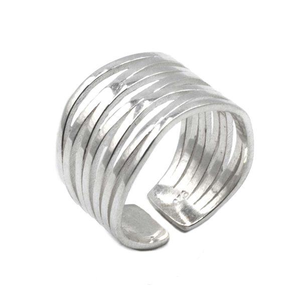 Δαχτυλίδι Ασημένιο με Σχέδιο – MINM10