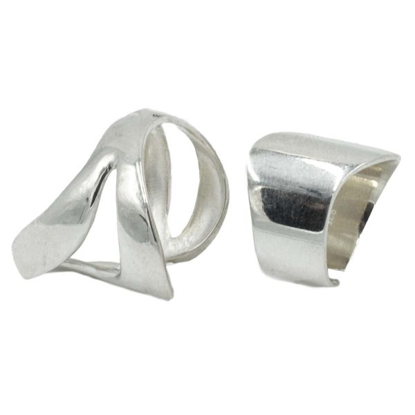 Δαχτυλίδια Σετ Ασημένια με Σχέδιο – MINM4