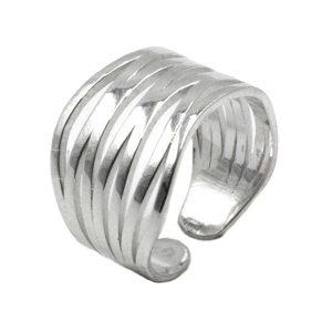 Δαχτυλίδι Ασημένιο με Σχέδιο – MINM7