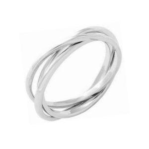 Δαχτυλίδι Ασημένιο Επιπλατινωμένο – D52-8177