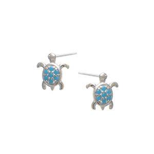 Σκουλαρίκια Αυτιού Ασημένια Επιπλατινωμένα με Σχέδιο και Ζιργκόν – D33-8536A
